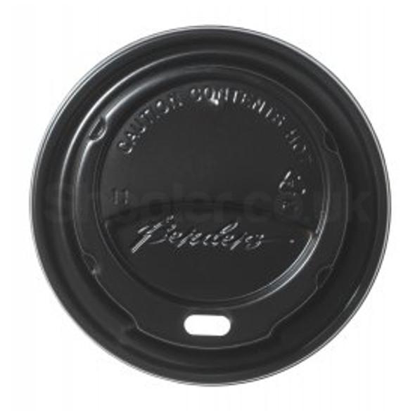 Bender Hot Plastic Lid [12oz & 16oz] Black Domed - SHOPLER.CO.UK