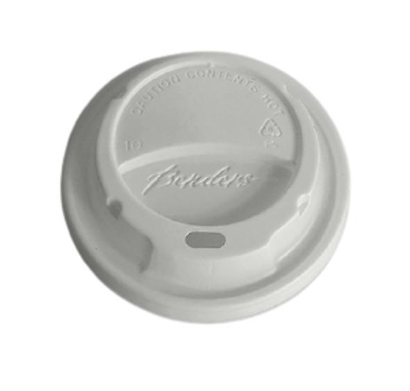 Bender Hot Plastic Lid [12oz & 16oz] White Dome - SHOPLER