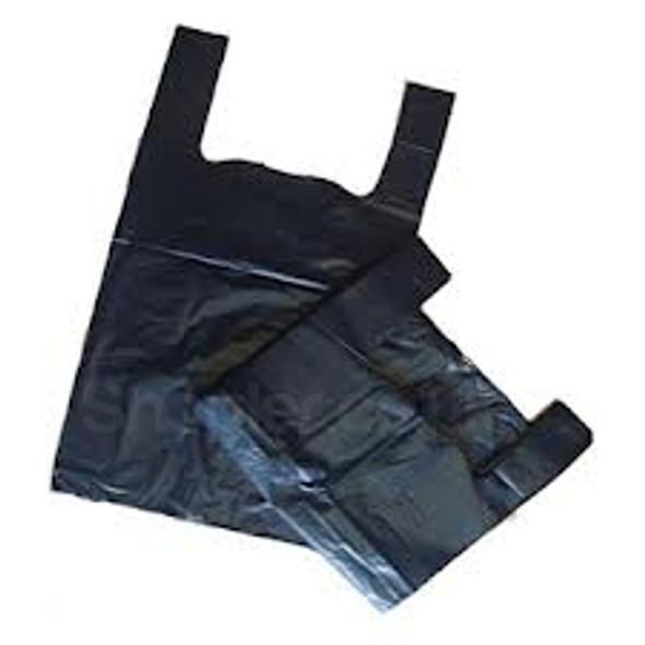 Black Plastic Carrier Bag Bottle 19x32x44cm 18m - SHOPLER