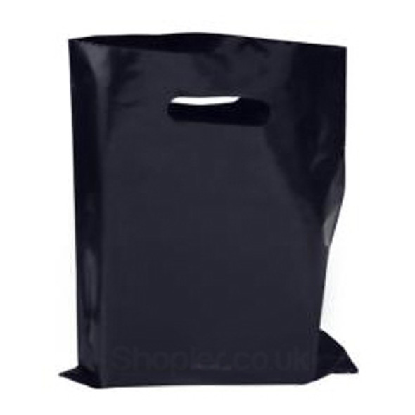 Black Plastic Patch Handle Bag [15x18+3Inch]a pac - SHOPLER.CO.UK