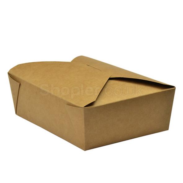 Natural Brown Kraft Leak-Proof Food Container No 3 - SHOPLER.CO.UK