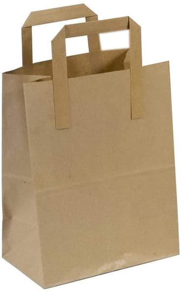 Brown Paper Carrier Bag XXLarge [317x218x245mm] - SHOPLER.CO.UK