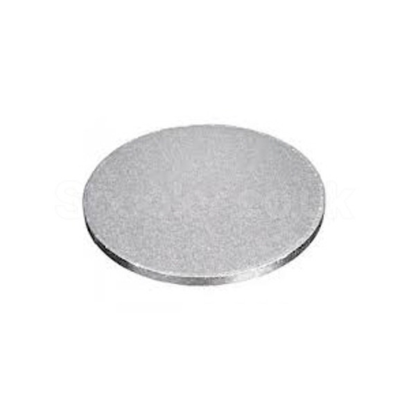 Cake Card Silver Round [7Inch] a pack of 100 - SHOPLER.CO.UK