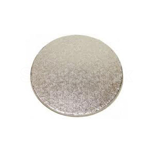 Cake Card Silver Round [7Inch] Extra Thick a pack - SHOPLER.CO.UK