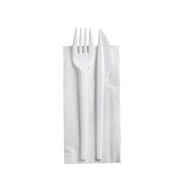 Cutlery Pack Napkin, Fork, Knife - SHOPLER.CO.UK