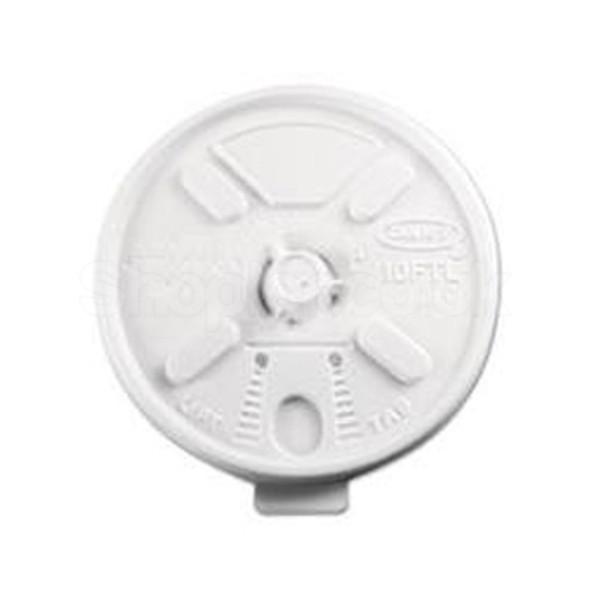 Dart 10FTL Plastic Lid Lift n' Lock White 10oz - SHOPLER