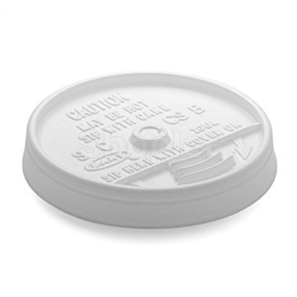 Dart [10UL] Plastic Lid Sip Thru White [10oz] - SHOPLER