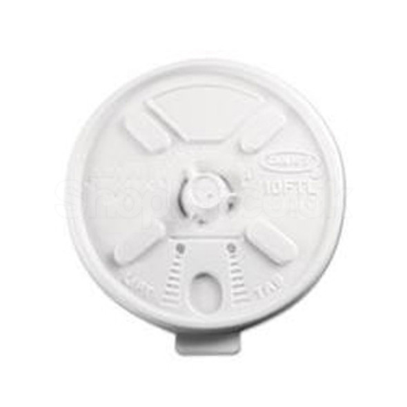 Dart 12FTL Plastic Lid Lift n' Lock White 12oz - SHOPLER.CO.UK