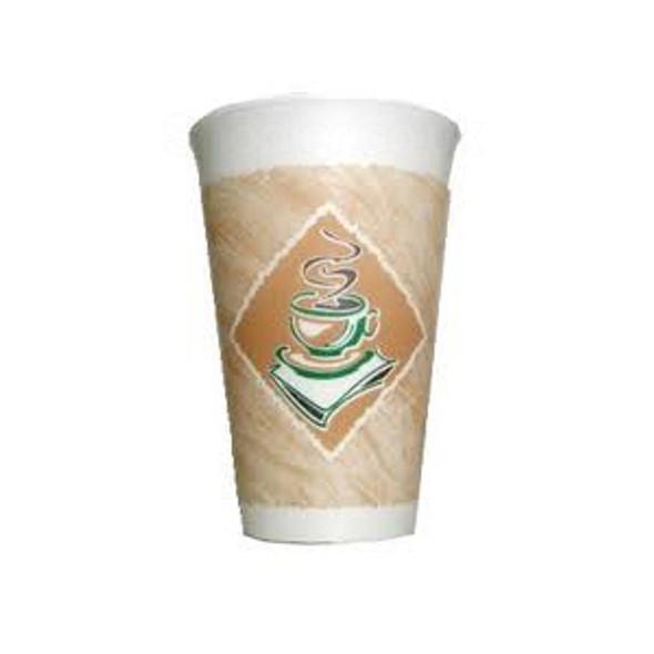 Dart [12LX12G] Polystyrene Cup Cafe G 12oz 355m - SHOPLER