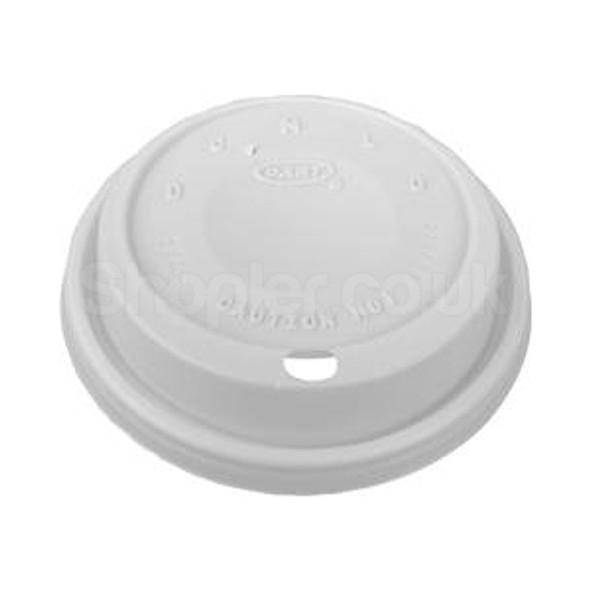 Dart 8EL Plastic Lid Cappuccino White 8oz - SHOPLER