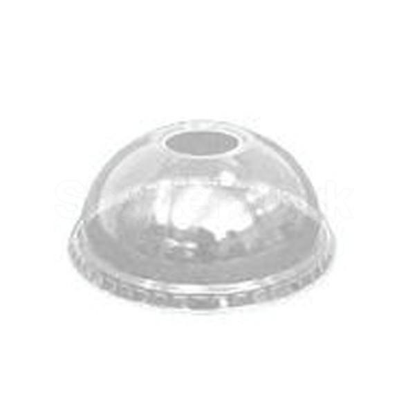 Dart 16LCDH Plastic Lid Domed 12oz & 20oz - SHOPLER