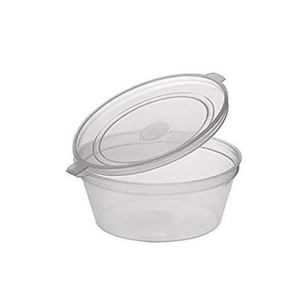 Deli pots / Sauce pots, Hinged Plastic Container - SHOPLER