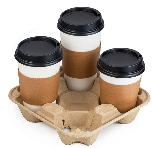 Four Cup Carry Tray, 4 CUP Tray - SHOPLER