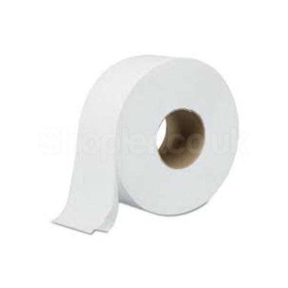 Jumbo Toilet Paper Roll 2ply 90mm x 300m 80mm core - SHOPLER
