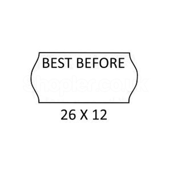 Label BESTBefore White a pack of 45000, - SHOPLER