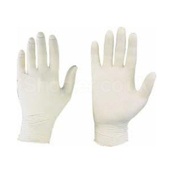 Latex Gloves [Medium] Powder Free 10 pack of 100 - SHOPLER.CO.UK