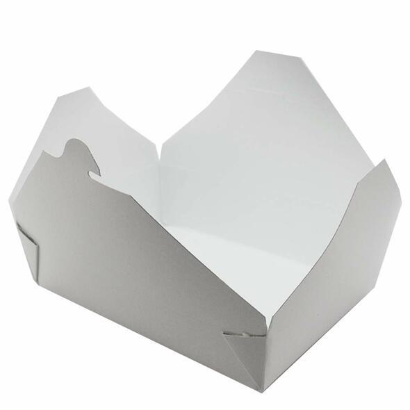 White Leak Proof Paper Food Container No.2 - 51oz (1500cc)- SHOPLER