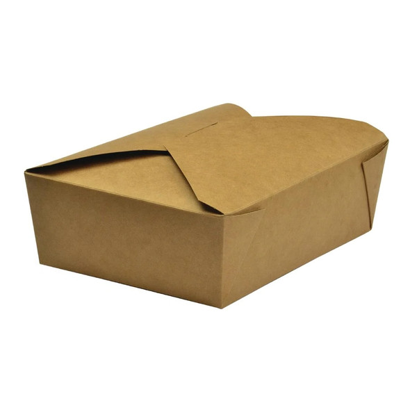 Brown Leak Proof Paper Food Container No.5 - SHOPLER.CO.UK