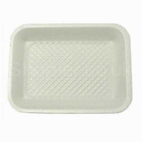 Linpac [14M] Polystyrene White Tray [216x178x16mm] - SHOPLER