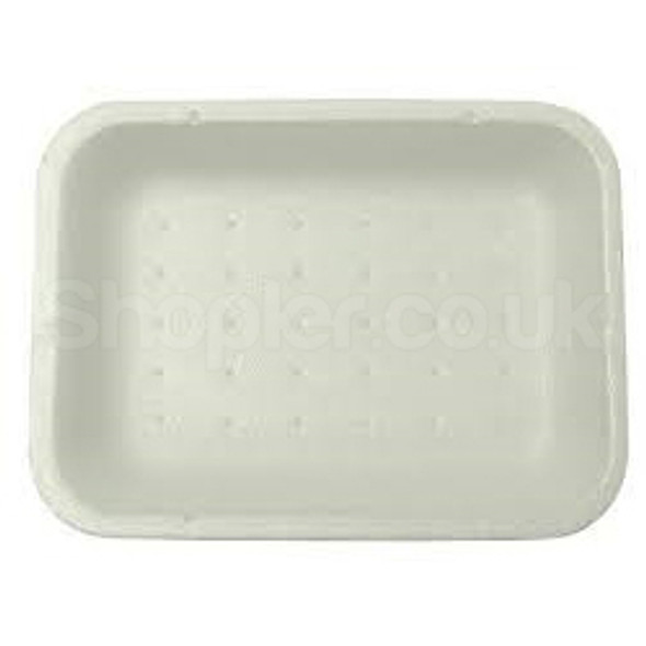 Linpac [2D] Polystyrene White Tray 178x133x25mm] - SHOPLER