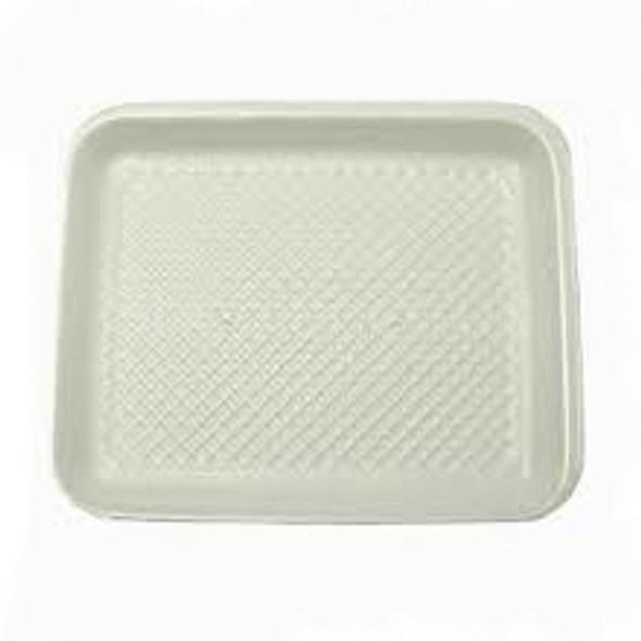 Linpac [2M] Polystyrene White Tray - SHOPLER
