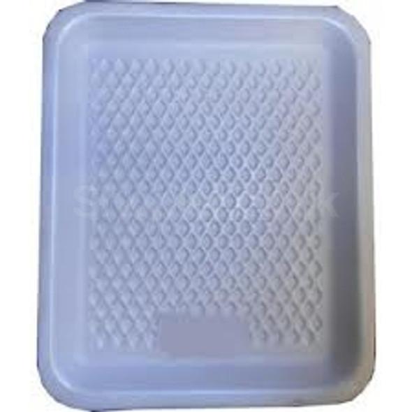 Linpac [3M] Polystyrene White Tray - SHOPLER
