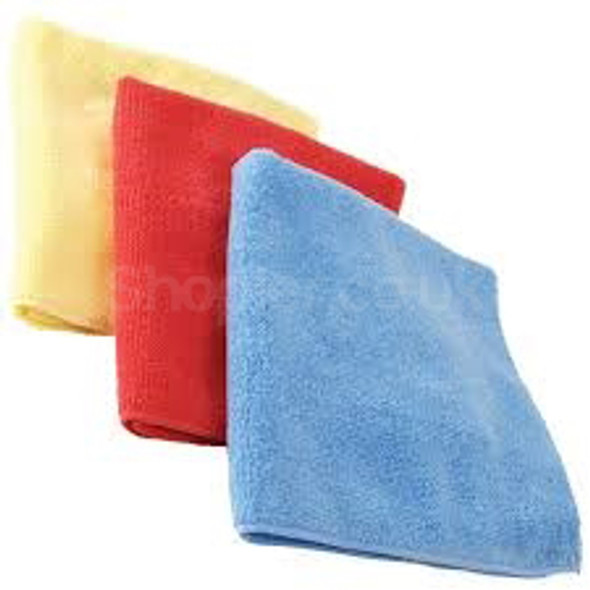Microfiber Cloth yellow [Pack of 10] - SHOPLER.CO.UK