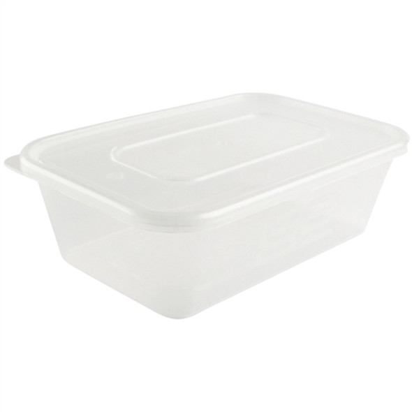 Microwave Container & Lid [500ml] a pack of 250 - SHOPLER.CO.UK