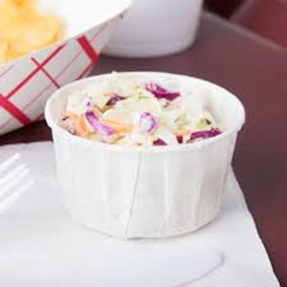 Paper Souffle Portion Cup [F400] 4oz - SHOPLER