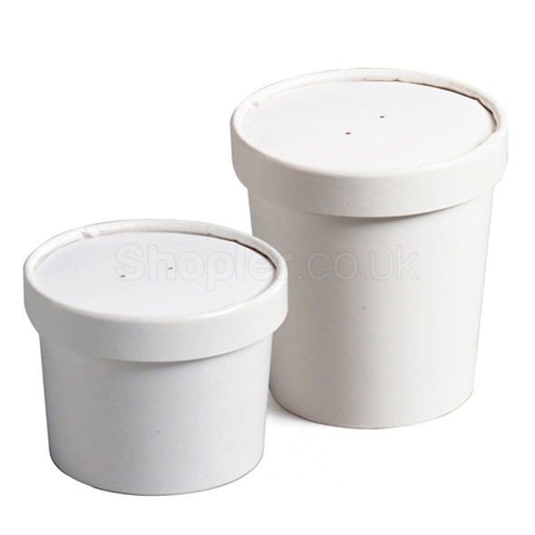 Go Pack Paper Soup Container & Lid Combo [8oz] - SHOPLER