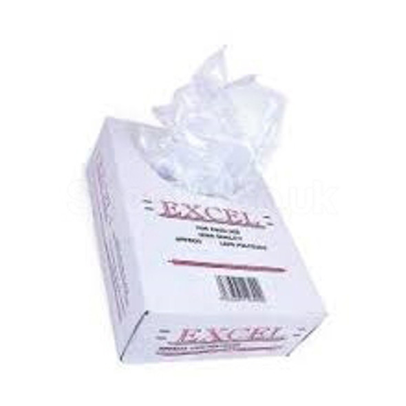 1000 x Not Perforated Crystal Bag Polythene - 8x12x22inch (100G) - SHOPLER