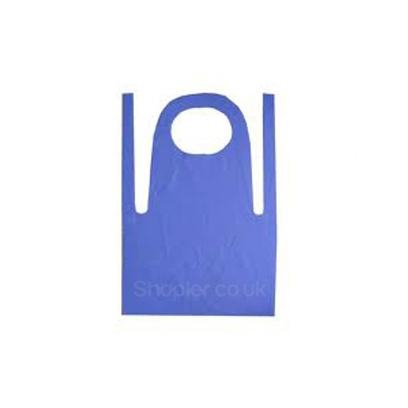 Plastic Blue Apron On Roll a pack of 1000 - SHOPLER.CO.UK