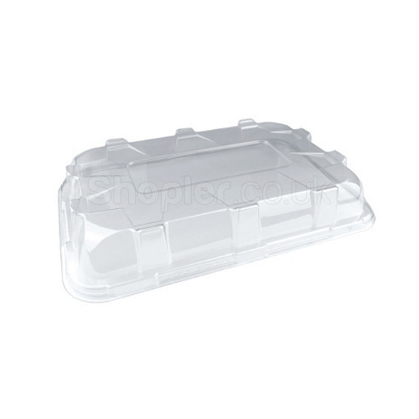 Plastic Platter Large Clear Domed Lid 460mmx300mm - SHOPLER.CO.UK