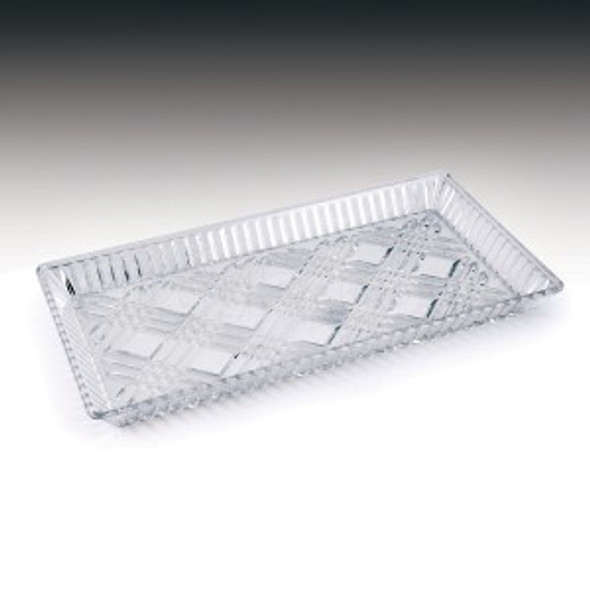 Plastic Rectangular Tray Clear ART49/2 [21x30cm] - SHOPLER