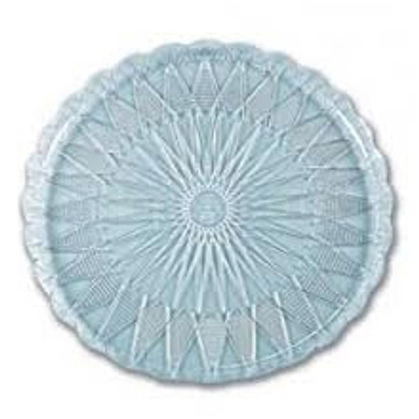 Plastic Round Tray Clear [22cm] a pack of 136 - SHOPLER