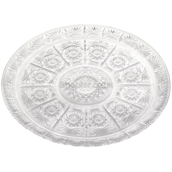 Plastic Round Tray Clear [36cm] a pack of 48 - SHOPLER