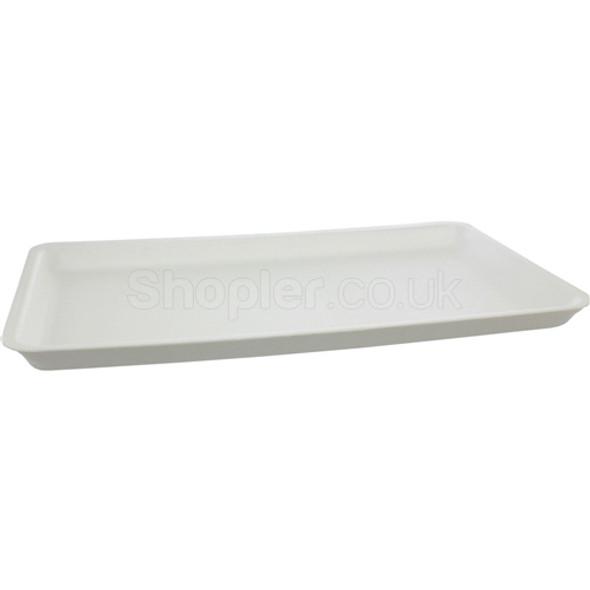 Polystyrene White Tray [SJ5] - SHOPLER