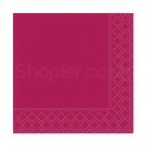 Poppies Napkin Bordeaux 2ply [24x24cm] - SHOPLER.CO.UK