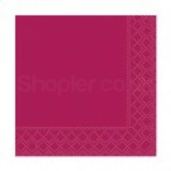 Poppies Napkin Bordeaux 2ply [24x24cm] - SHOPLER