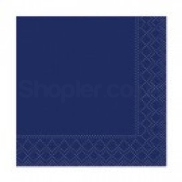 Poppies Napkin Midnight Blue 2ply [33x33cm] - SHOPLER.CO.UK
