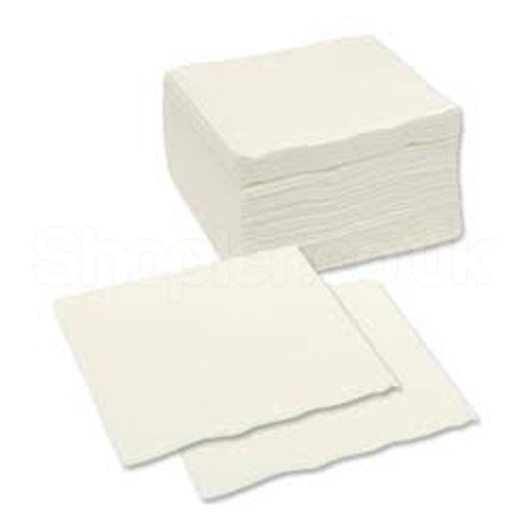 Poppies Napkin White 2ply [33x33cm] - SHOPLER.CO.UK