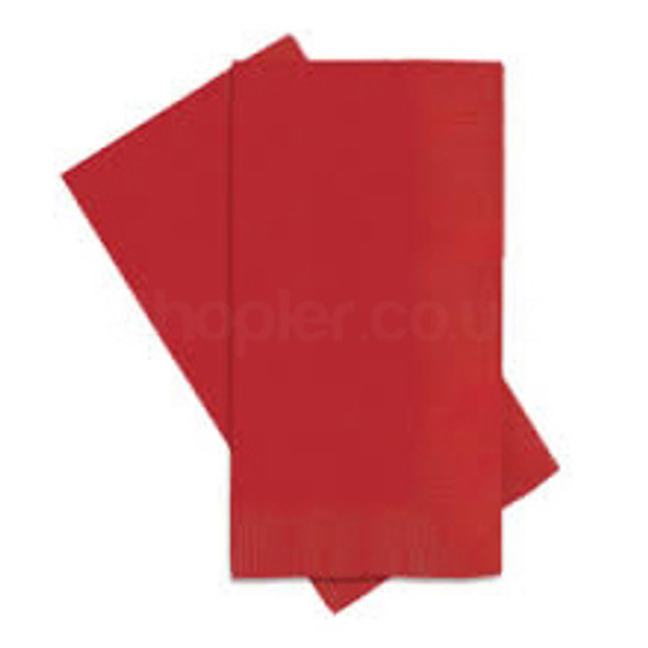 Poppies 8 fold Red Napkin 2ply [40x40cm] - SHOPLER.CO.UK