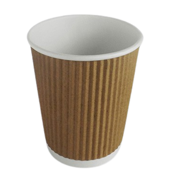Ripple Kraft Paper Cup Hot [8oz] - SHOPLER