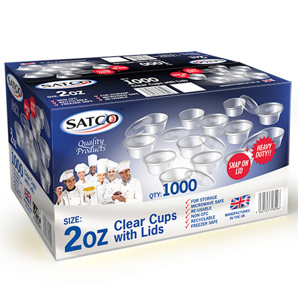 Satco 2oz Round Container and Lid - SHOPLER