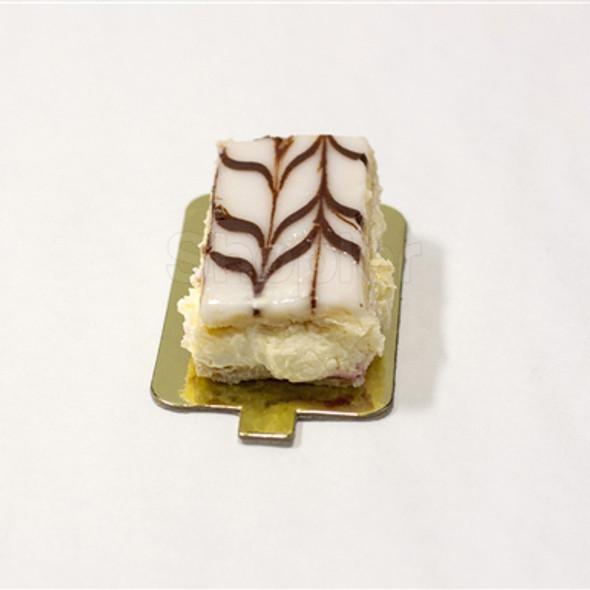 Single Cake Card Gold Rectangular 6.5x10.5cm - SHOPLER