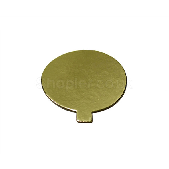 Single Cake Card Gold Round 8.5cm a pack of 1000 - SHOPLER
