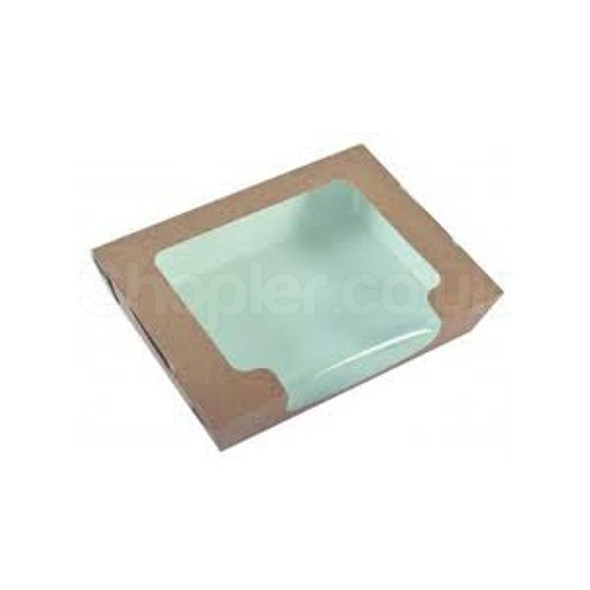 Cardboard Hinged Salad Container - SHOPLER