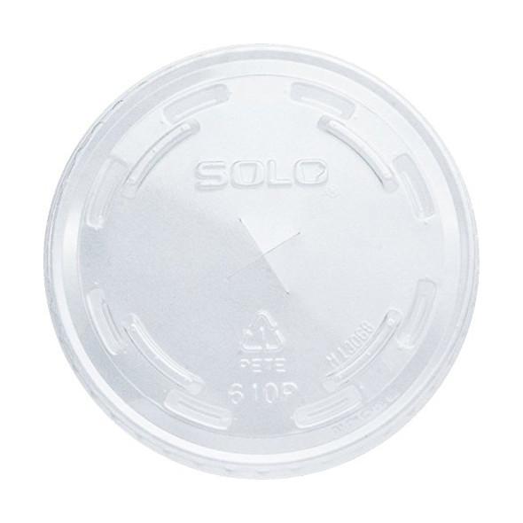 Solo M640S Plastic Lid Straw Slot Clear 12oz - SHOPLER