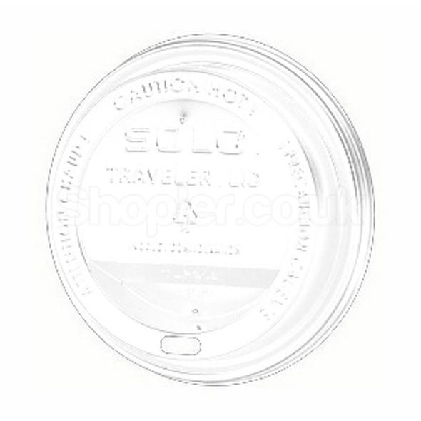 Solo T316R Plastic Lid Sip Thru White 12oz & 16 - SHOPLER