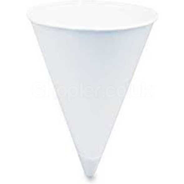 Solo 4BR Paper Cone Cups 4oz a pack 5000 - SHOPLER